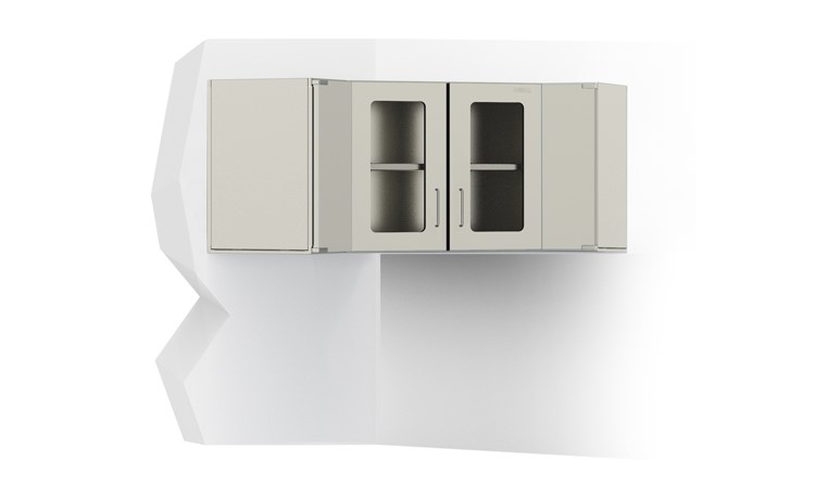 Corner Wall Cabinet With Glass Doors Bawer Medical